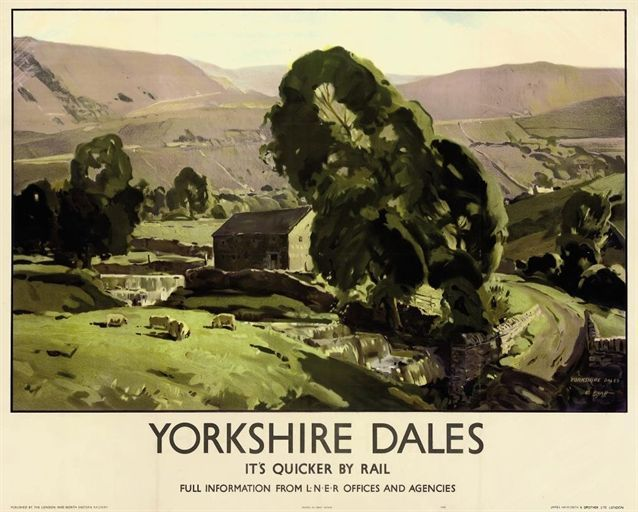 Yorkshire Dales railway poster.16
