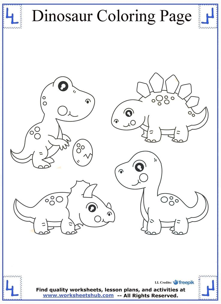 16 best Dinosaur Coloring Pages