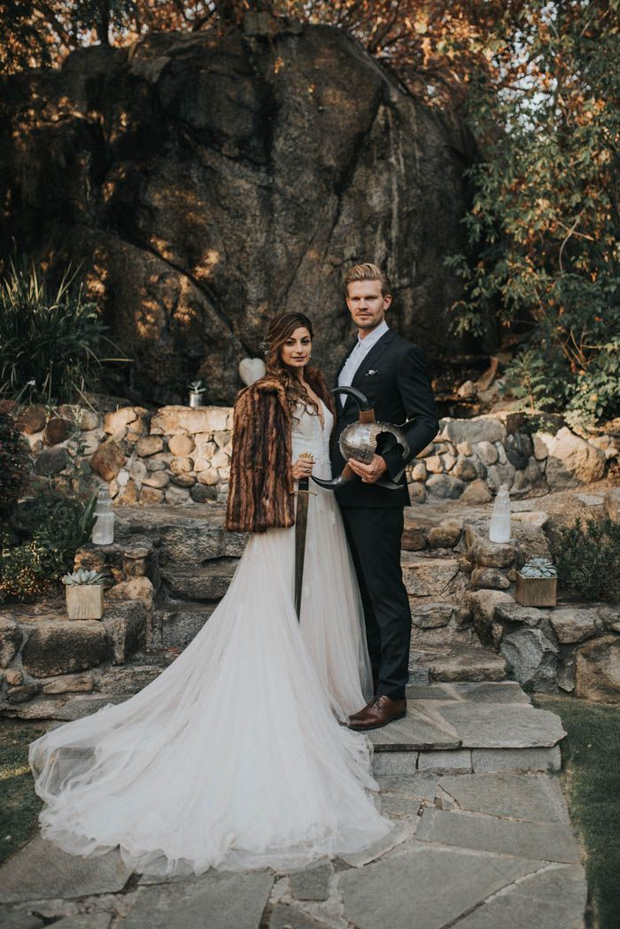 This couple honored their heritage with their viking and gypsy inspired wedding| Image by Jonnie + Garrett