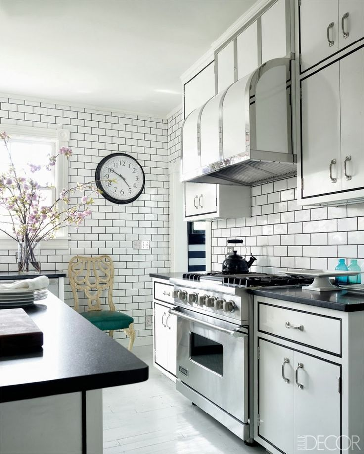 Multiple Choices Of Black And White Kitchen Floor Tiles: Comfy Dark Kitchen  Table Top And