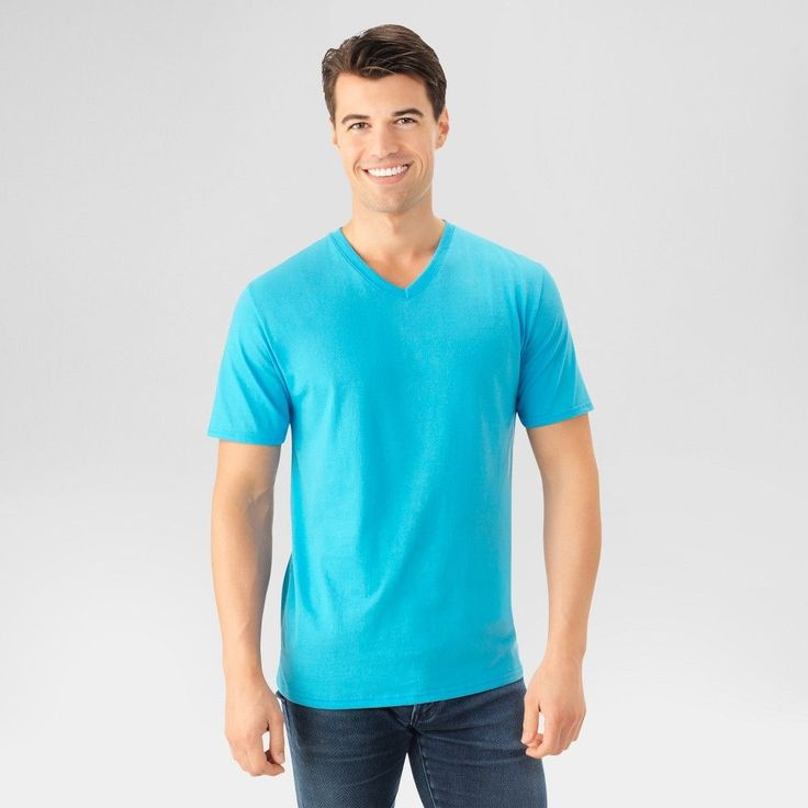 Fruit of the Loom Men's T-Shirt - Happy Blue Xxl, Bright Blue