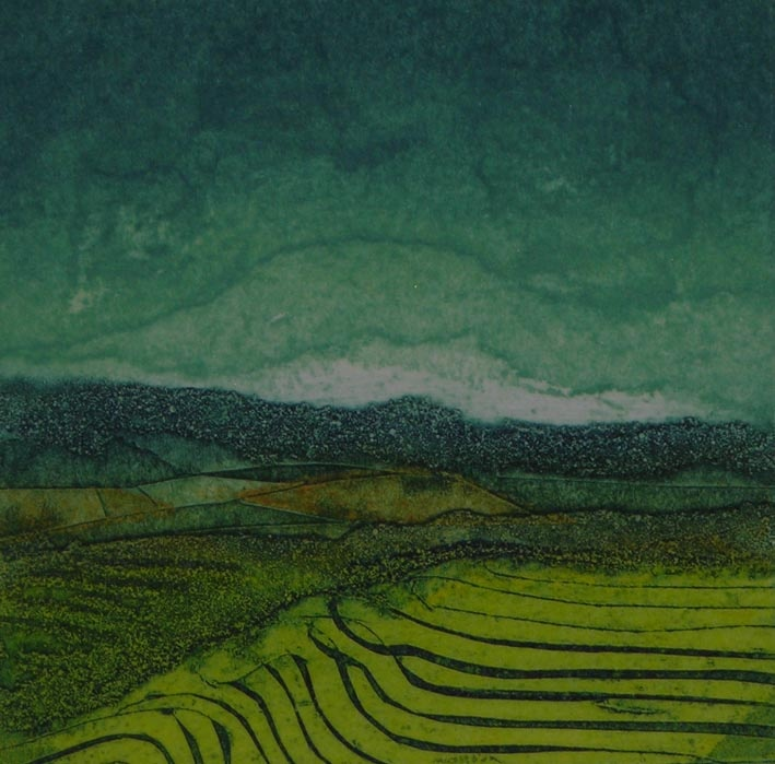 Sarah Ross Thompson   collograph via Will's Art Warehouse