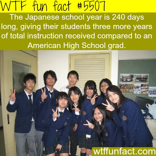 : Japanese vs American schools - WTF fun facts | March 21 2016 at 12:13AM | http://www.letstfact.com