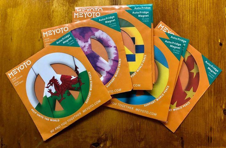 Meyoto.com Auto/ Fridge Magnets, 5.5 Inch Flag Or Artistic Design Peace Symbol