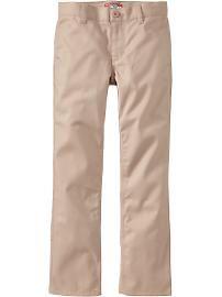 Estos son los pantalones del muchacho típicos de la escuela. El color tostado claro es agradable y es perfecto para todos los tonos de piel , me gustan. Son muy populares para los estudiantes más jóvenes.