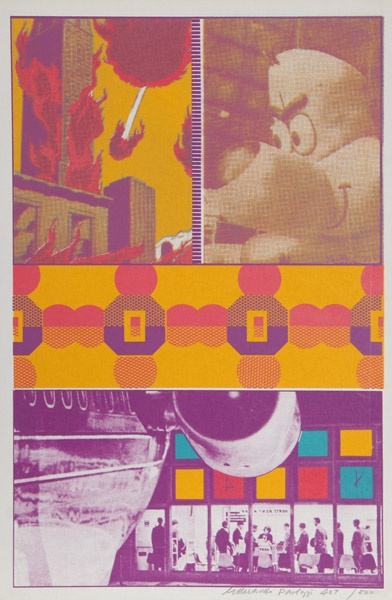 "1968. Eduardo Paolozzi Stencil Print""ernie and T.T. at St Louis Airport"