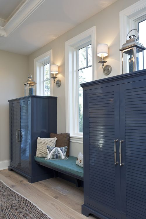 Blue Lacquered Cabinets