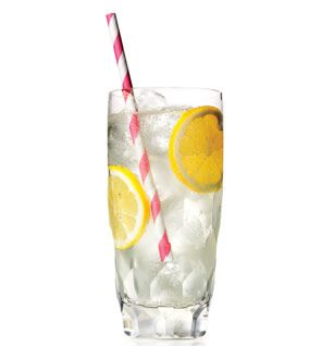 Spiked Gingerade Recipe | Self: Caramelized ginger and lemon juice edge out extra sugar in our hard lemonade, cutting about 70 calories per glass.