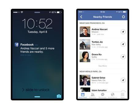 Facebook avviserà se Amici nei dintorni (foto: ANSA)
