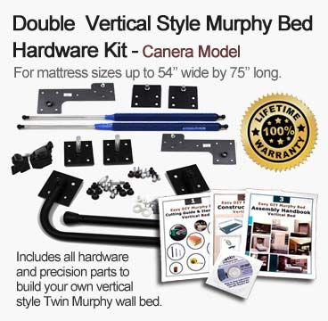 Canera – Easy Vertical Murphy Bed Hardware Kit for Double Size Mattress