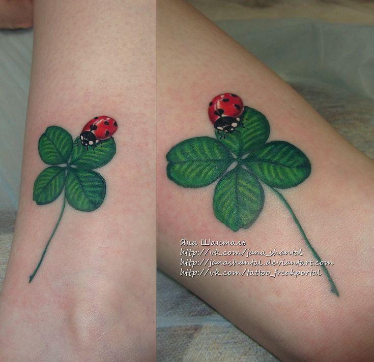 clovers with ladybugs | ladybug clover by janashantal