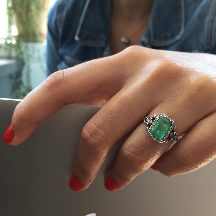 200 year old Antique Georgian Two Carat Emerald Ring