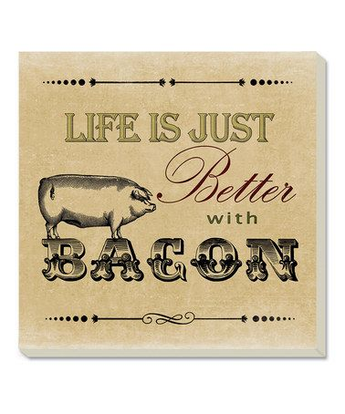 Take a look at this 'Better with Bacon' Coaster - Set of Four by CounterArt on #zulily today!