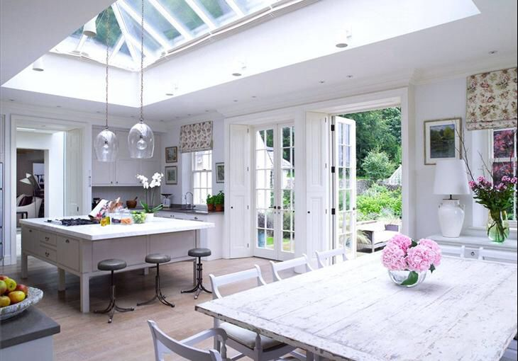 Light and airy orangery kitchen extension ideas for Orangery kitchen