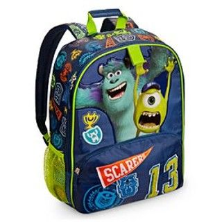 Monsters University Backpack - Back to school with Disney backpacks, lunch boxes and clothing - Back to school with Disney backpacks, lunch boxes and clothing