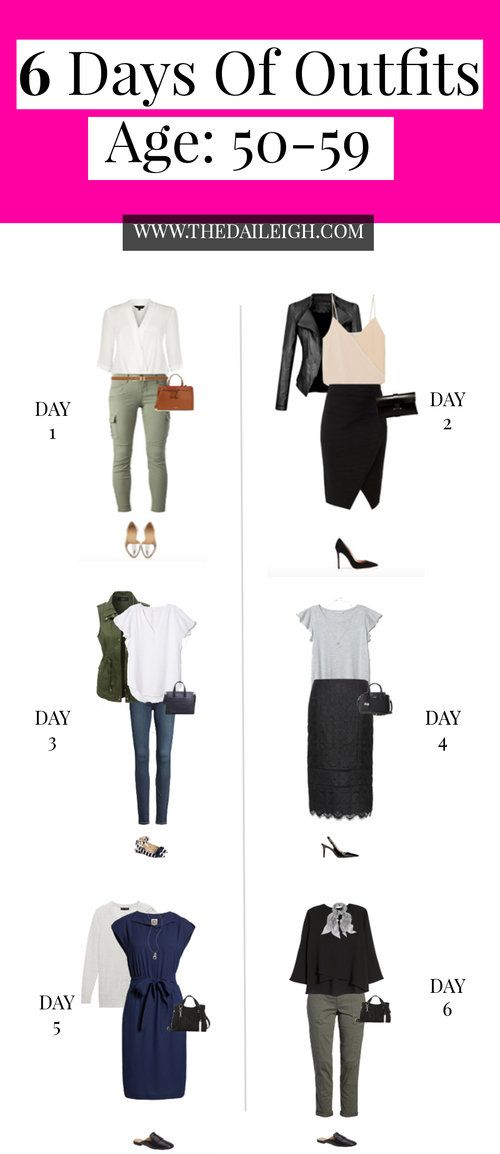 6 Days of Outfits – Age 50's