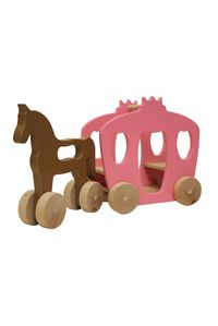 Wooden horse + carriage push toy.  Dolls can sit in the carriage.  Love it.: Natural Skin, Little Girls, Push Toys, Gifts Ideas, Simon Hors, Royals Baby, Baby Gifts, Carriage Push, Wooden Toys