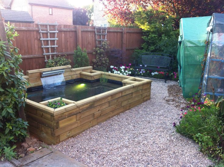 17 best images about new pond ideas on pinterest gardens for Raised koi pond ideas