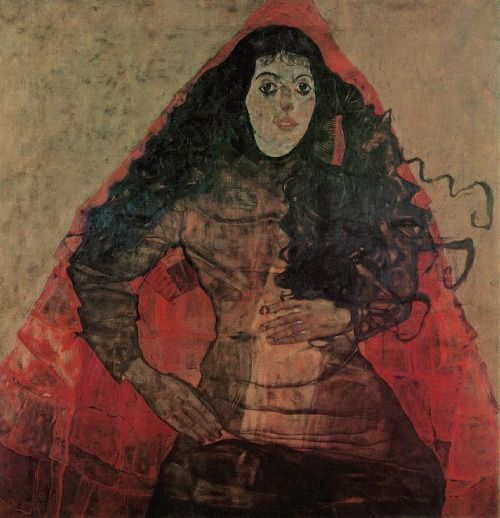 Portrait of Trude Engel by Egon Schiele. 1911 Oil on Canvas