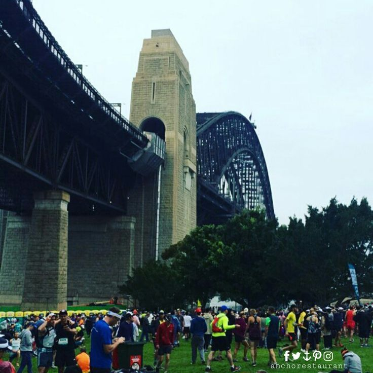 Blackmores Sydney Running Festival Sydney, Australia's most scenic course. All four running events started in Bradfield Park, Milson's Point right in our front yard under the northern end of the Sydney Harbour Bridge and adjacent to Milsons Point train station ⚓ ANCHOR Cafe & Restaurant - BOOKINGS: (02) 9922 2996 - Taste the difference! #blackmoressydneyrunningfestival #blackmoresrunningfestival #sydneyrunningfestival #blackmores #runningfestival #bradfieldpark