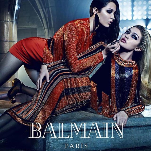 Gigi Hadid landed a Balmain campaign with little sister Bella Hadid.