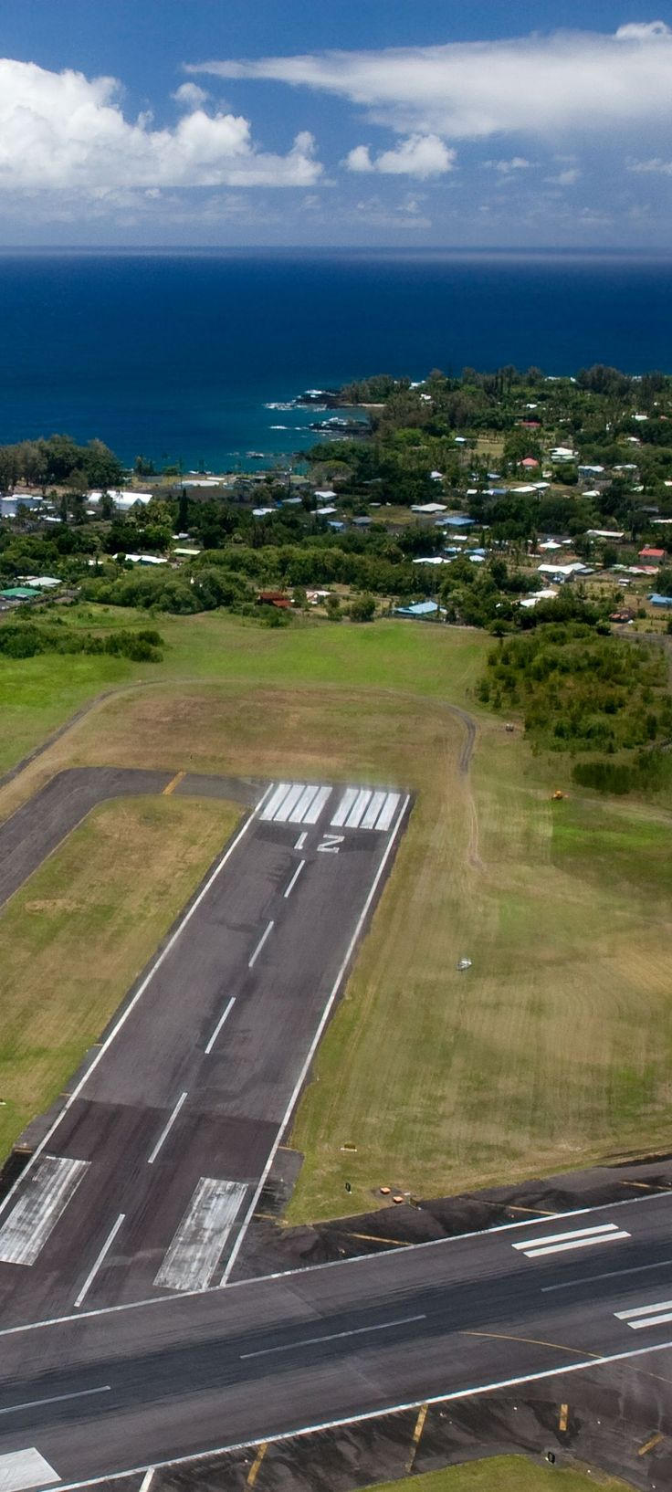 Aerial View of Runway at Hilo International Airport, Big Island, Hawai