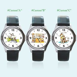 New Round Metal Watch Calvin and Hobbes Birthday Christmas... review at Kaboodle