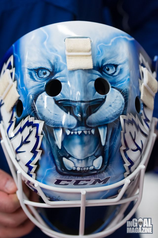 The new mask. Our sport. #Hockey