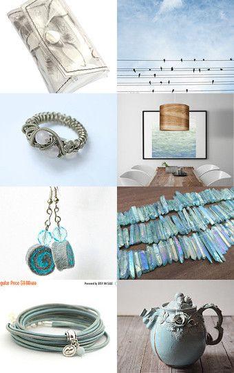 So delicate blue by Dorota Kościelniak on Etsy--Pinned with TreasuryPin.com
