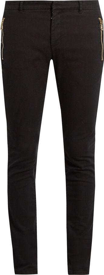 BALMAIN Zip-detail skinny jeans