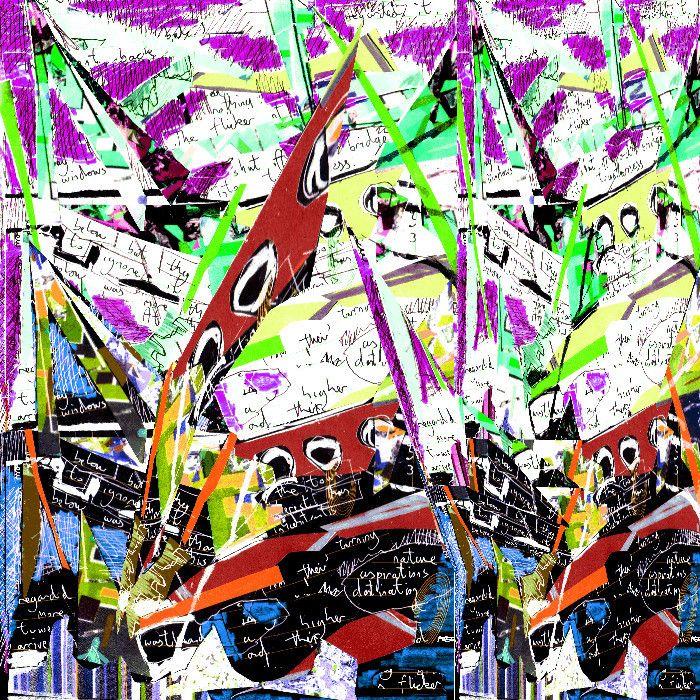 VIDA Statement Bag - Psychedelic Rain by VIDA Wsd16Cfx