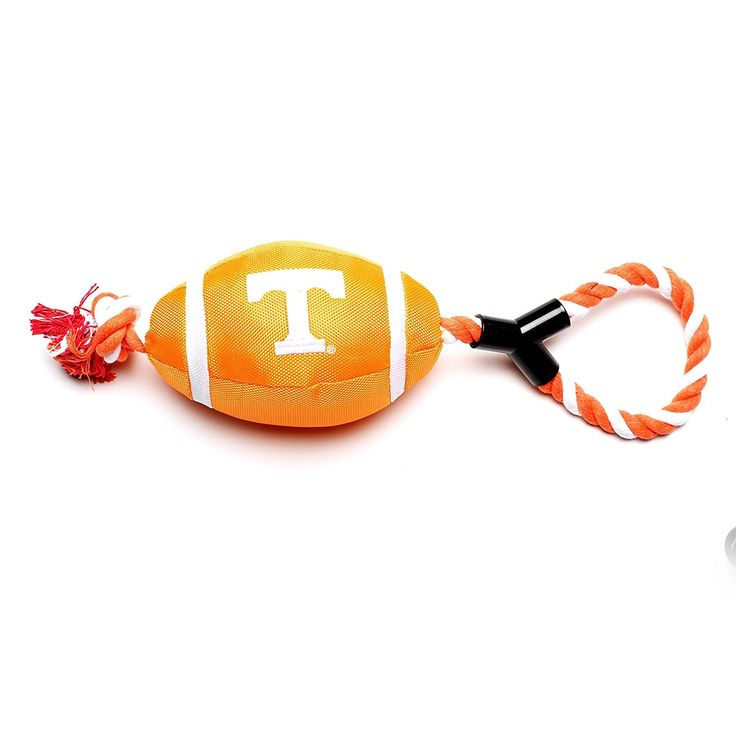 Pet Goods Tennessee Volunteers Football with Rope Toy >>> You can get additional details at the image link. (This is an Amazon affiliate link)