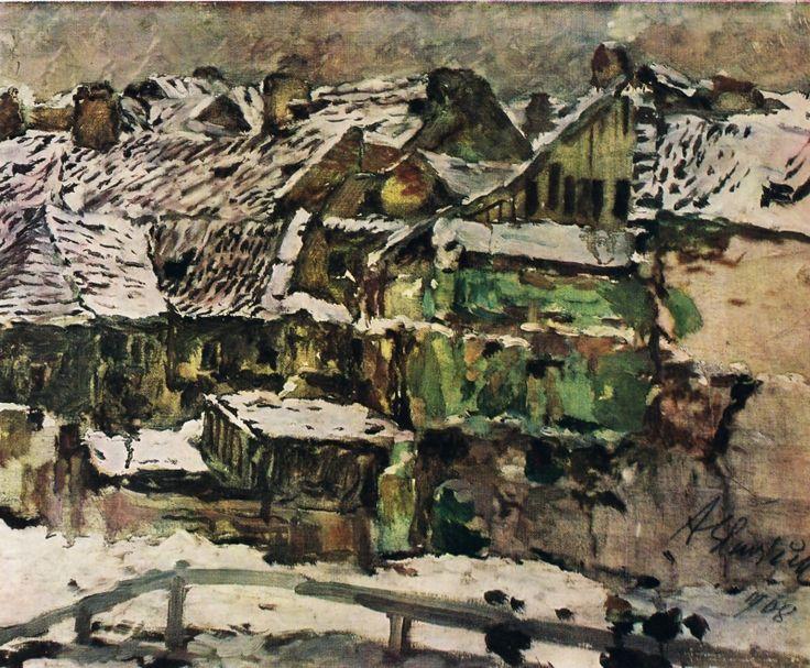 ANTONÍN SLAVÍČEK (1870-1910) Old Prague Ze staré Prahy I (1908)