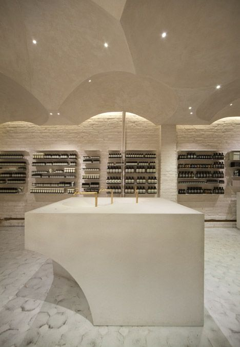 Snøhetta references religious architecture for Aesop's 100th store.