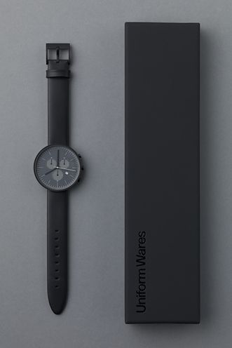 Uniform Wares 300 Series: Minimal Watches, Black Black, Watches Menswear, Black Watches, Matte Black, Black On Black, Uniforms Ware, Menswearinspir Watches, Men Watches