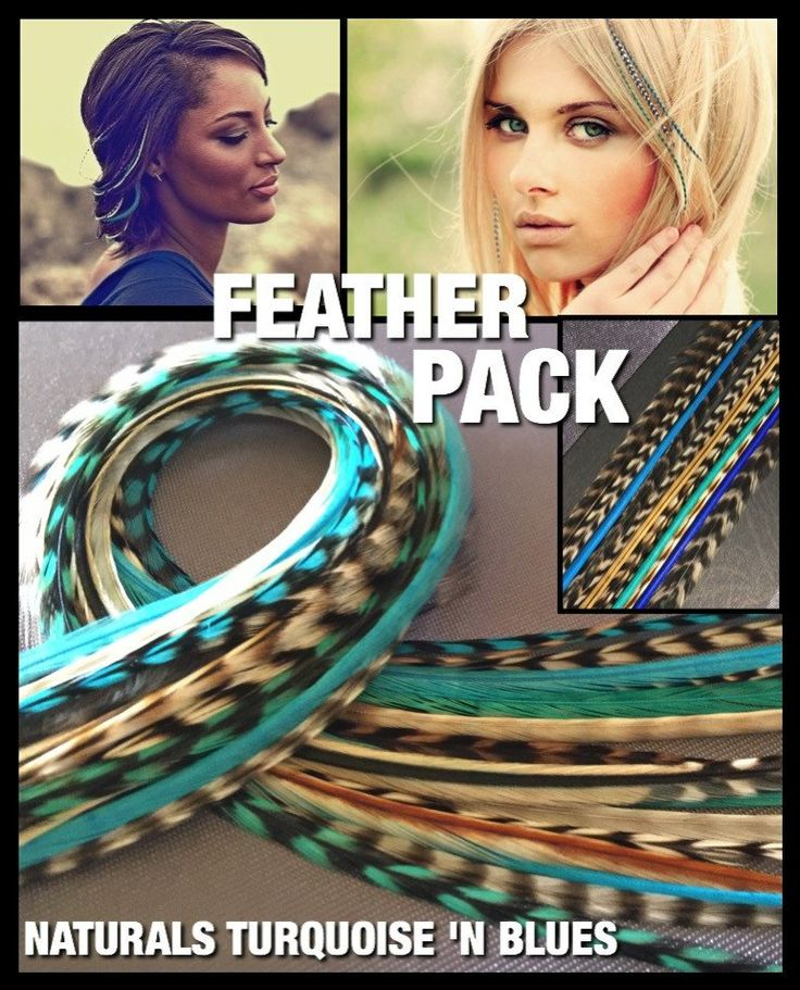 Feather Hair Extens Pack:$35 Naturals Blues Feathers CraftKit Only $24