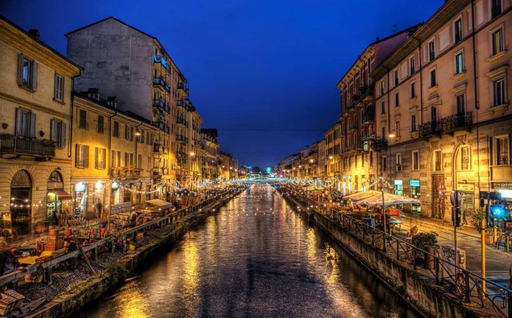 Milan in night