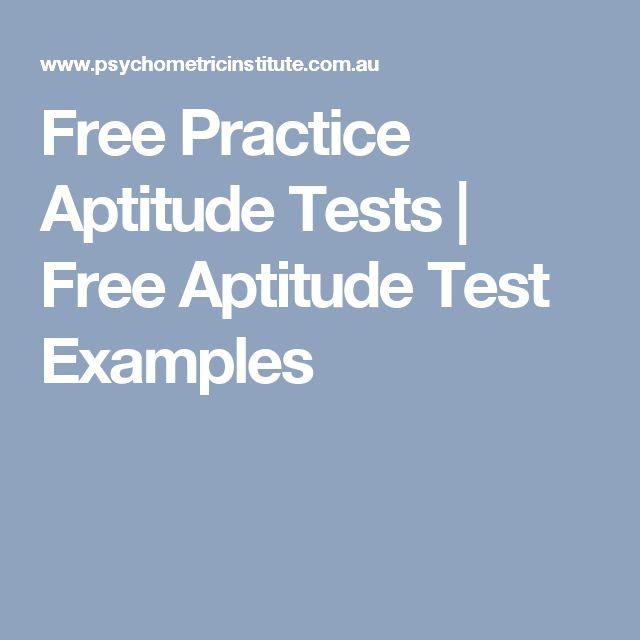 Your Free Career Test: 17 Best Ideas About Job Aptitude Test On Pinterest