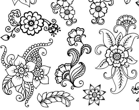 450 best FLOWER coloring pages images on Pinterest