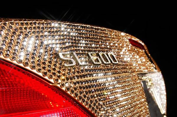 Custom Mercedes SL600 Covered With Swarovski Crystals 5