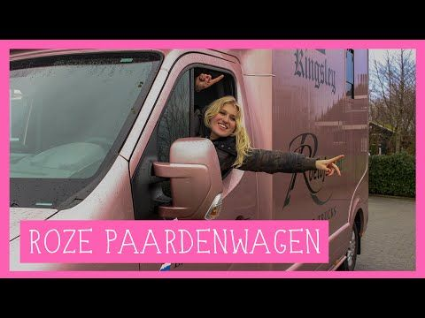 Exclusieve tour door de roze paardenwagen | PaardenpraatTV - YouTube