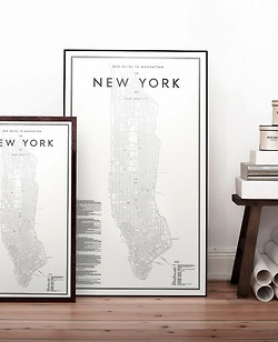 2013 Guide to Manhattan by David Ehrenstråhle | 58x100 cm - 42x70 cm