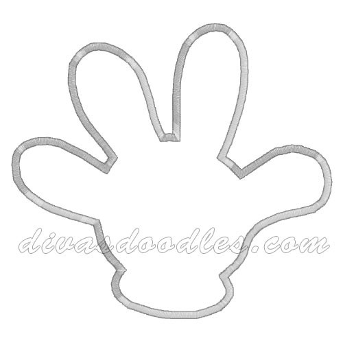 Mickey Mouse Hand Applique $3