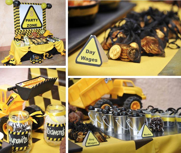 Construction themed birthday party via Kara's Party Ideas www.KarasPartyIdeas.com