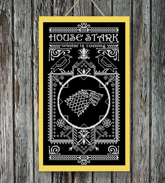 BoGo Pattern cross stitch House Stark Games of Thrones Instant Download, Cross-Stitch PDF, Needlework, Embroidery, Digital #093