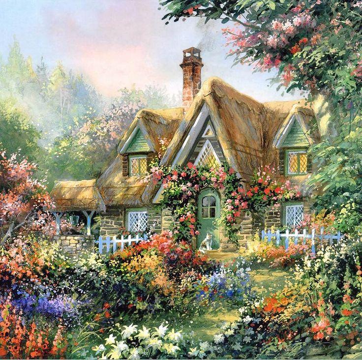 Открытки с изображением домиков