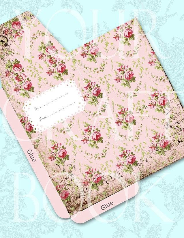 Shabby French Roses Envelope