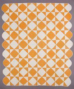Two colour quilt.