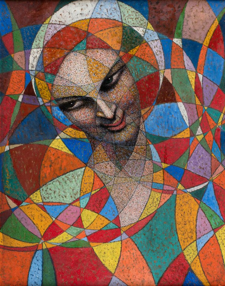 Bolesław Biegas (1877-1954) Spherical portrait – Hindu woman, 1943
