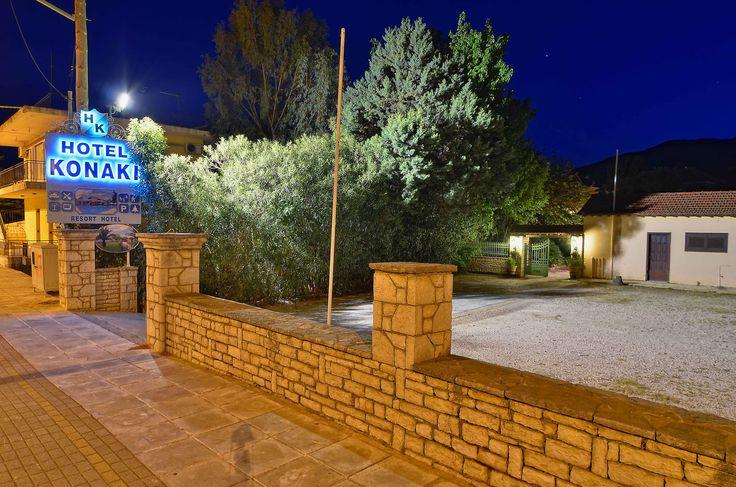 Our hotel grounds photographed at night #HotelKonaki #Lefkada #Greece (C) Hotel Konaki